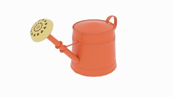 Orange Watering Can - 3DOcean Item for Sale