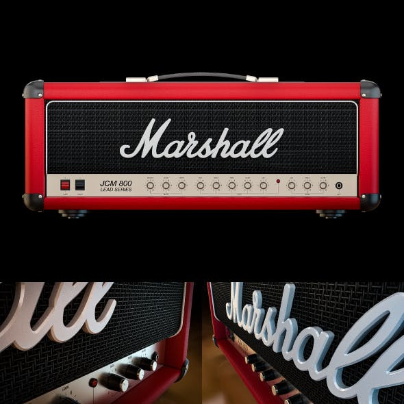 Marshall JCM 800 RED - 3D Model - By AlexFull - 3DOcean Item for Sale
