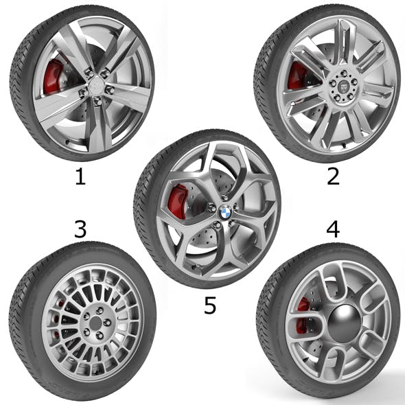 Wheels Collection 2 (5 Models)