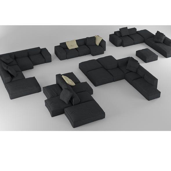 Bonaldo Peanut Collection B01-B05 Pillows - 3DOcean Item for Sale