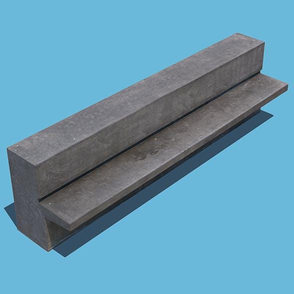 Concrete Bench - 3DOcean Item for Sale