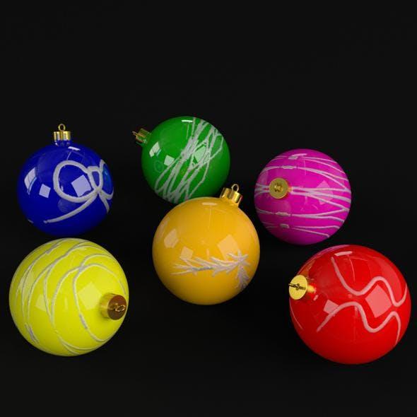 Christmas Balls deco - 3DOcean Item for Sale