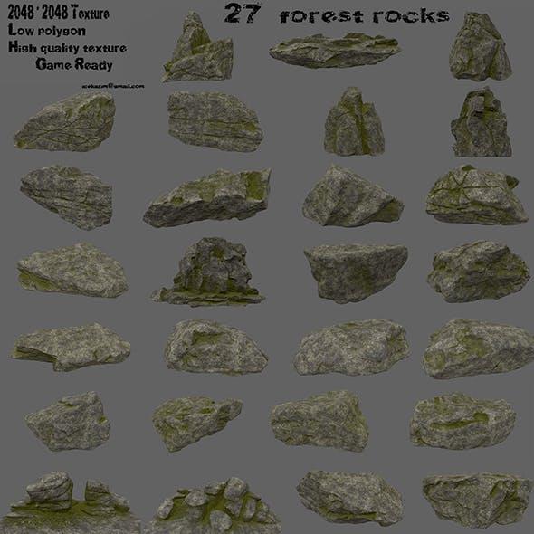 forest rocks set 2 - 3DOcean Item for Sale