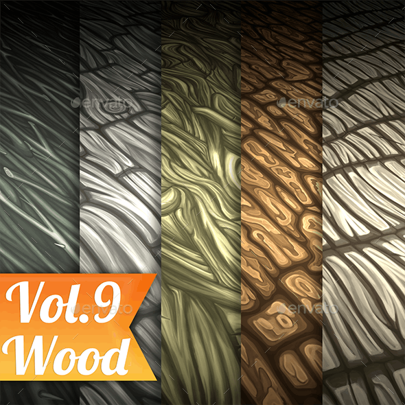 Wood Vol.9 - Hand Painted Texture Pack - 3DOcean Item for Sale