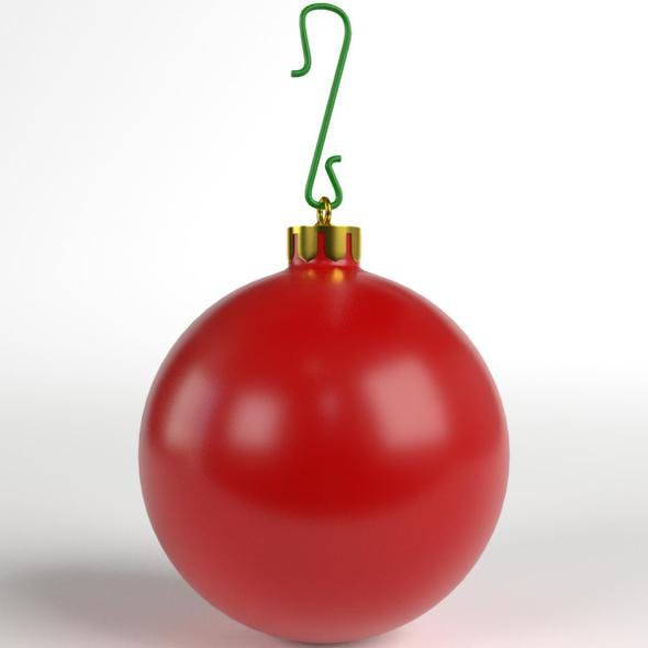 Christmas Ball matte - 3DOcean Item for Sale