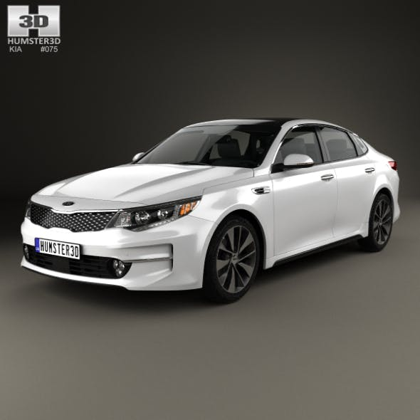 Kia K5 MX with HQ interior 2016 - 3DOcean Item for Sale