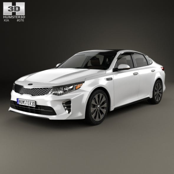 Kia Optima with HQ interior 2016 - 3DOcean Item for Sale