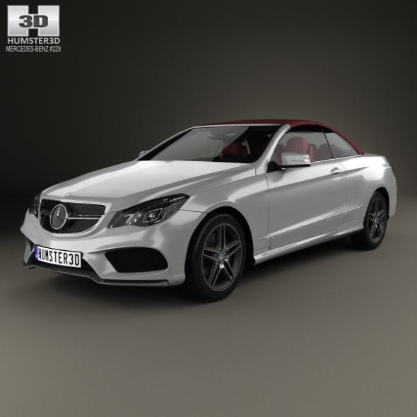 Mercedes-Benz E-Class Convertible AMG Sports Package with HQ interior 2014 - 3DOcean Item for Sale