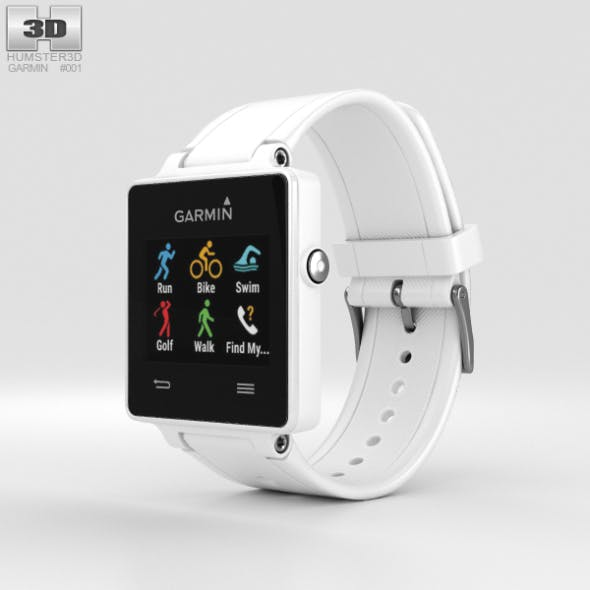 Garmin Vivoactive White - 3DOcean Item for Sale