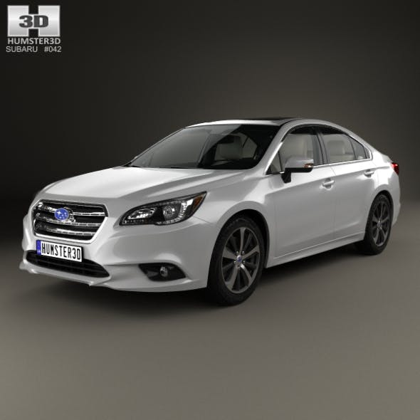 Subaru Legacy with HQ interior 2014 - 3DOcean Item for Sale