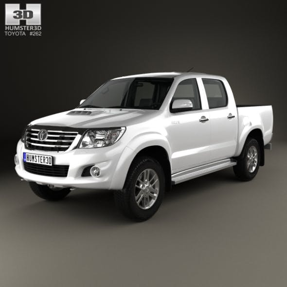 Toyota Hilux Double Cab with HQ interior 2015 - 3DOcean Item for Sale