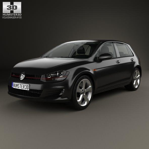 Volkswagen Golf GTI 5-door hatchback with HQ interior 2013 - 3DOcean Item for Sale