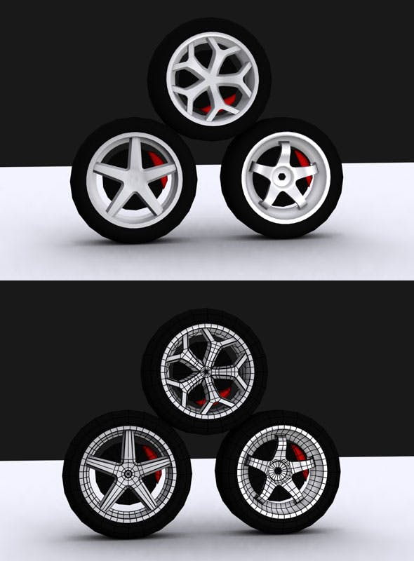 Tire Vol Model - 3DOcean Item for Sale