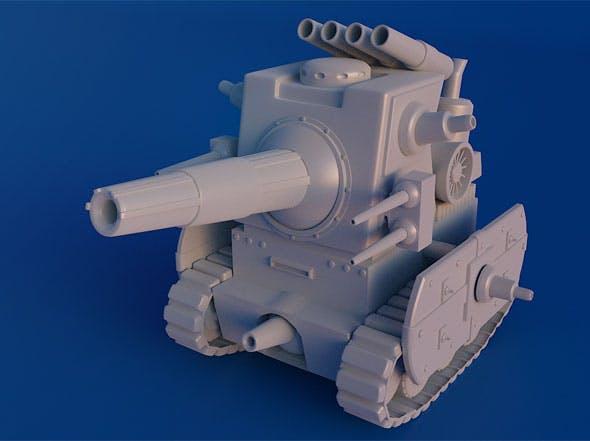 Mini Military Tank - 3DOcean Item for Sale