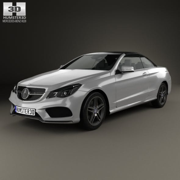 Mercedes-Benz E-Class Convertible AMG Sports Package 2014 - 3DOcean Item for Sale