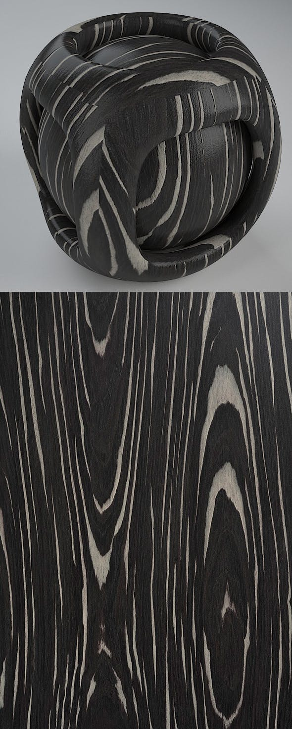 Real Plywood Vray Material Ebony Radisa - 3DOcean Item for Sale