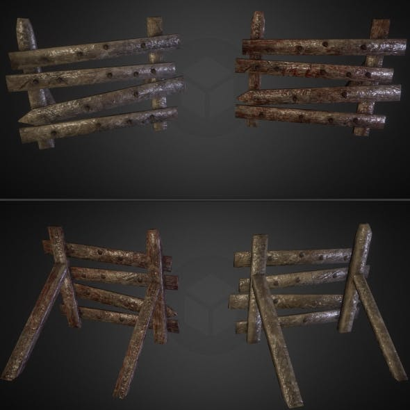 Wooden Barricades Pack (2 textural variations)