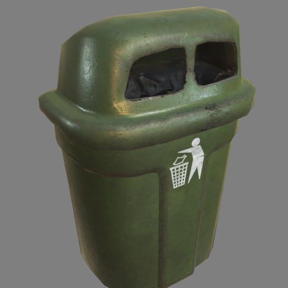 Wall Trash Bin PBR