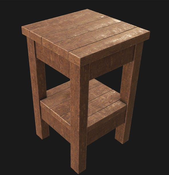 End Table 01 PBR - 3DOcean Item for Sale
