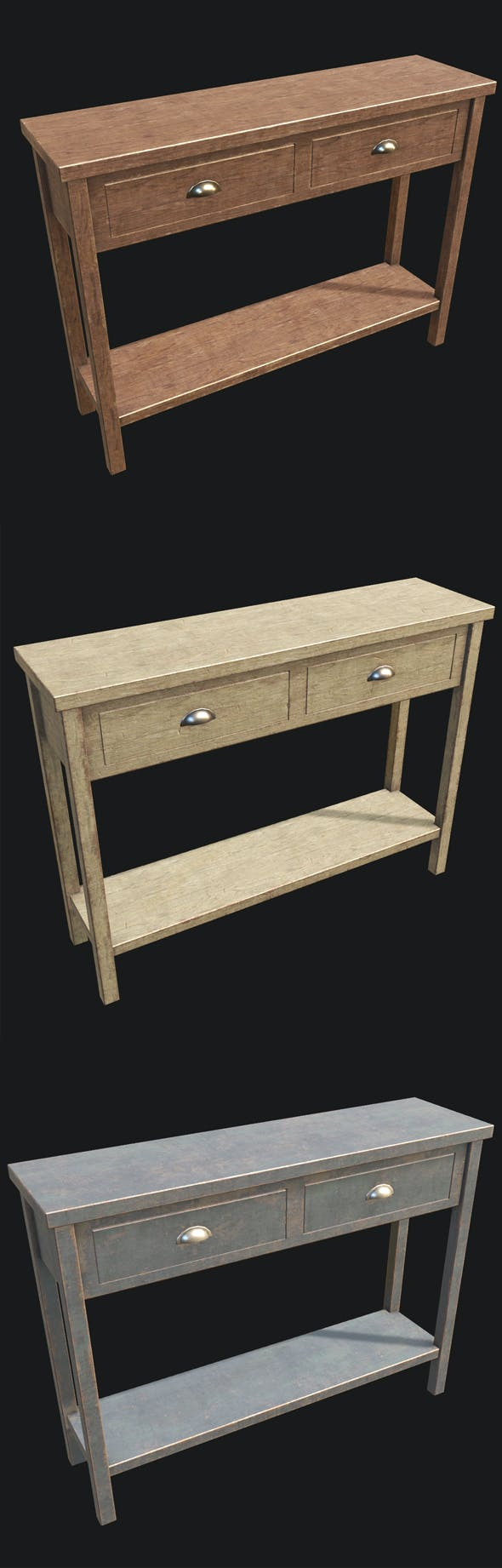 End Table 02 PBR - 3DOcean Item for Sale