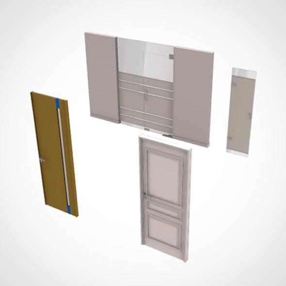 office door set (4 door)