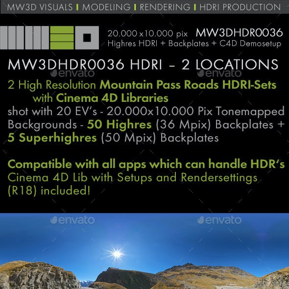 MW3DHDR0036 HDRI – 2 MOUNTAIN PASS ROAD LOCATIONS