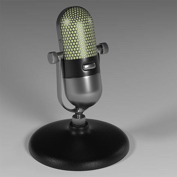 Old school microphone - 3DOcean Item for Sale