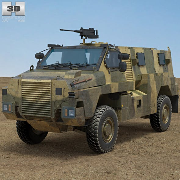 Bushmaster Protected Mobility Vehicle - 3DOcean Item for Sale