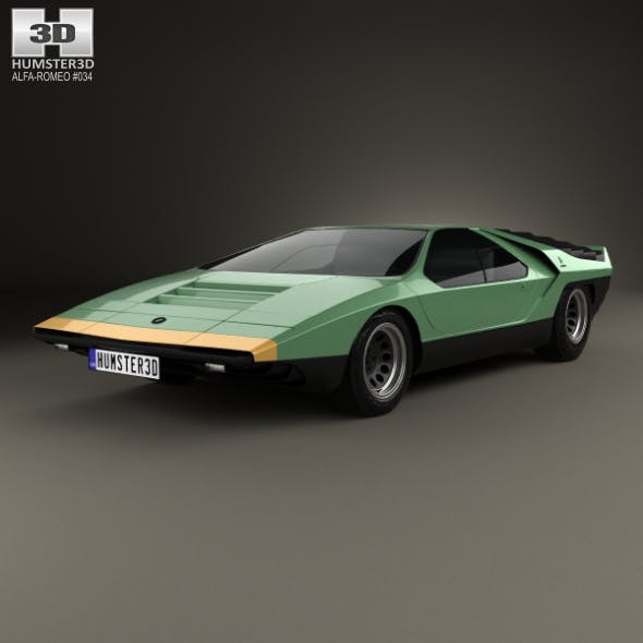 Alfa Romeo Carabo 1968 - 3DOcean Item for Sale