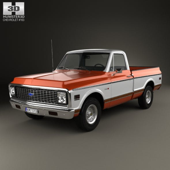 Chevrolet C10 Cheyenne Pickup 1971 - 3DOcean Item for Sale
