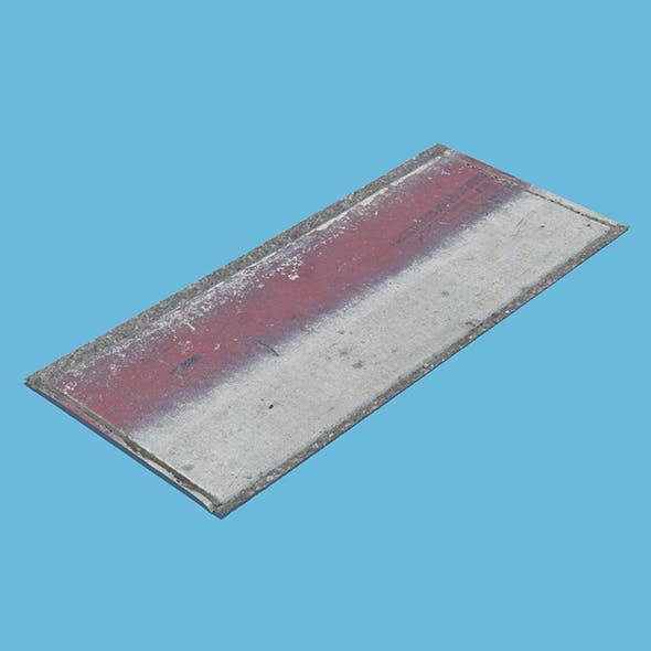 Red Concrete Section - 3DOcean Item for Sale