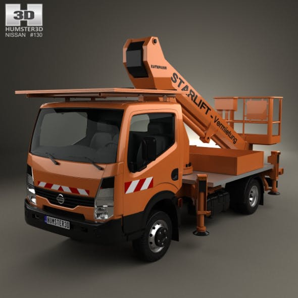 Nissan Cabstar Lift Platform Truck 2006 - 3DOcean Item for Sale