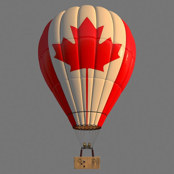 CanadaFlag-Parachute - 3DOcean Item for Sale