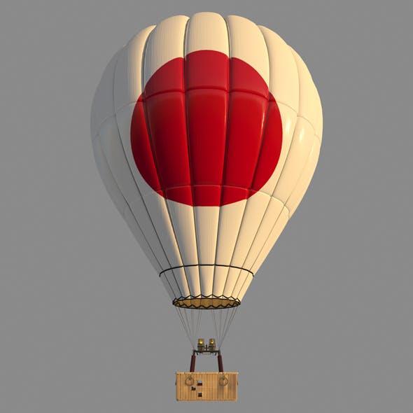 JaponFlag-Parachute - 3DOcean Item for Sale