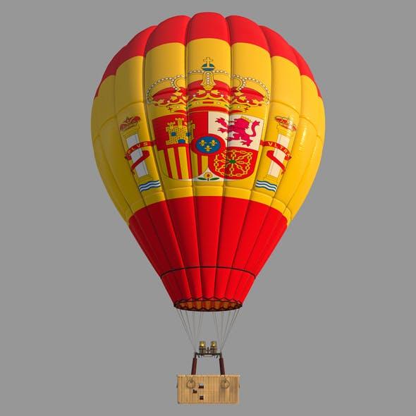 SpainFlag-Parachute - 3DOcean Item for Sale