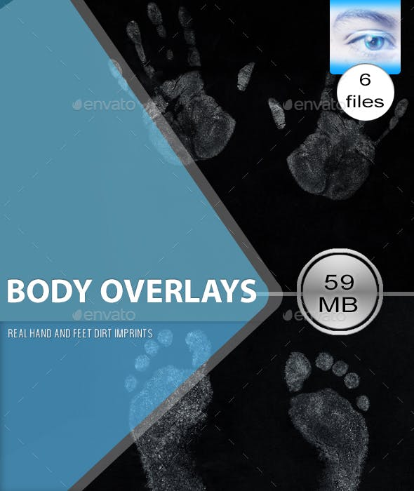 Real Body Part Overlay Textures - 3DOcean Item for Sale