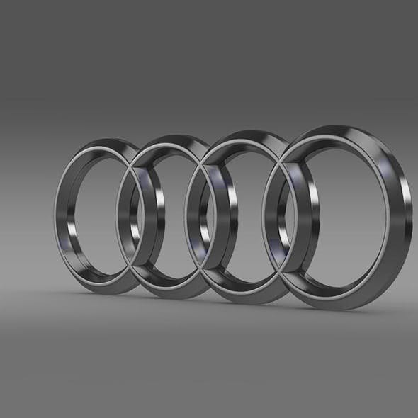 AUDI 3D LOGO - 3DOcean Item for Sale