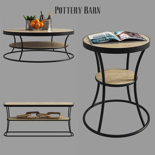 Bartlett Reclaimed Wood Coffee Table Side Table Console Table