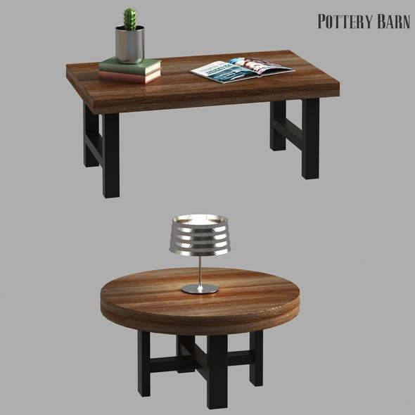 Griffin Reclaimed Wood Coffee Table - 3DOcean Item for Sale