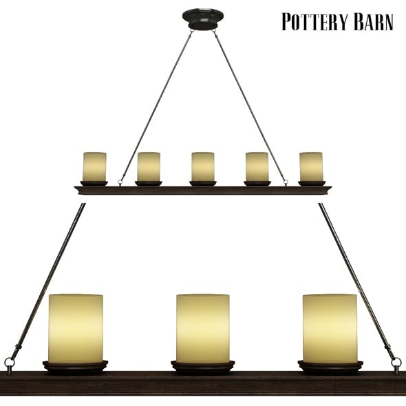 Pottery barn Veranda Linear Chandelier - 3DOcean Item for Sale