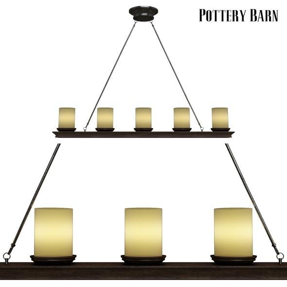 Pottery barn Veranda Linear Chandelier - 3DOcean Item for Sale