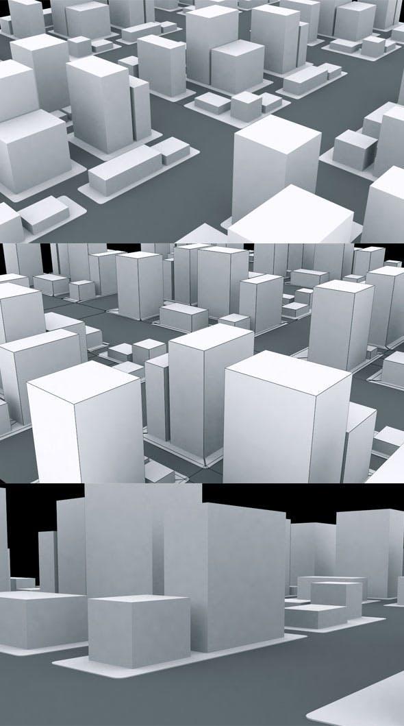 Qube City Model - 3DOcean Item for Sale