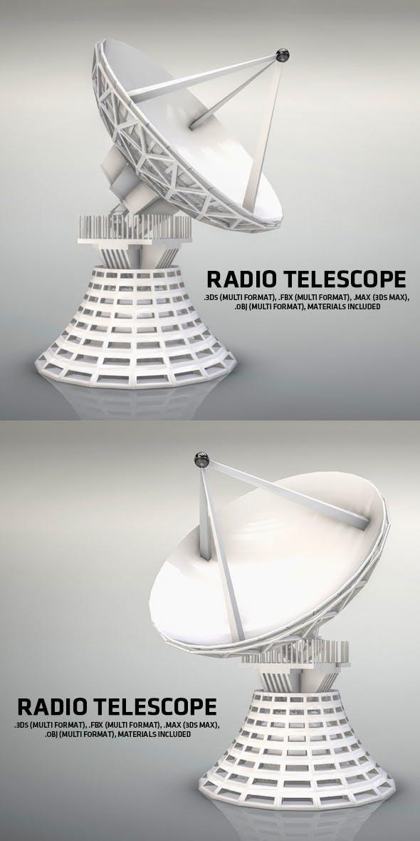 Radio Telescope - 3DOcean Item for Sale