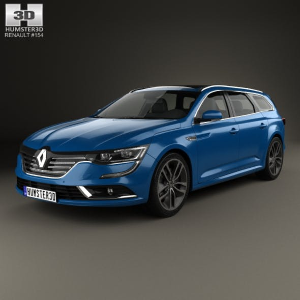 Renault Talisman estate 2016 - 3DOcean Item for Sale