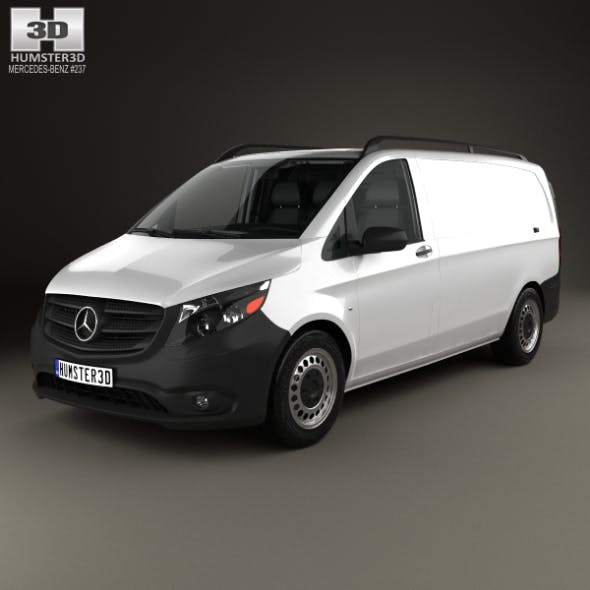 Mercedes-Benz Metris Panel Van with HQ interior 2014 - 3DOcean Item for Sale
