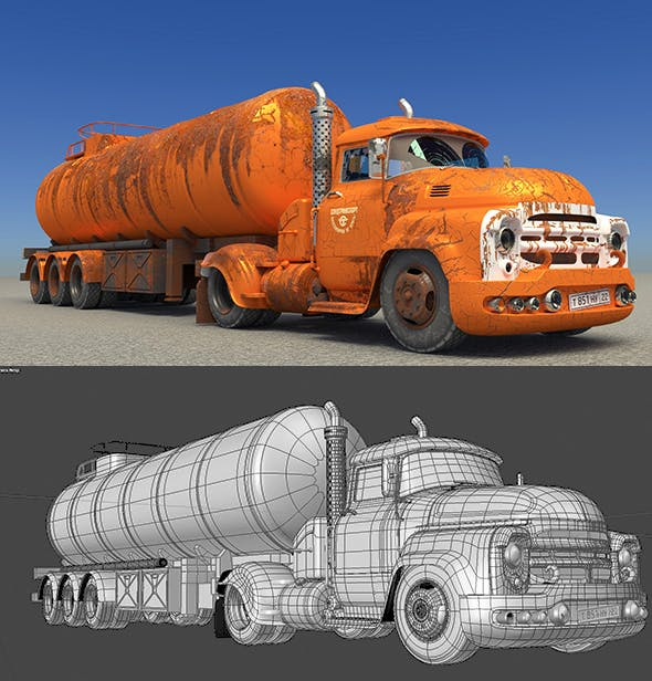The fuel truck - 3DOcean Item for Sale
