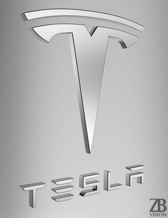 Tesla Motors Logo - 3DOcean Item for Sale