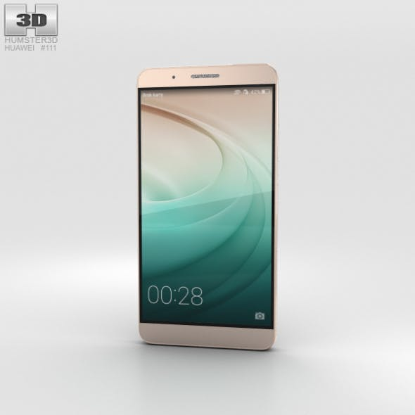 Huawei Honor 7i Gold - 3DOcean Item for Sale