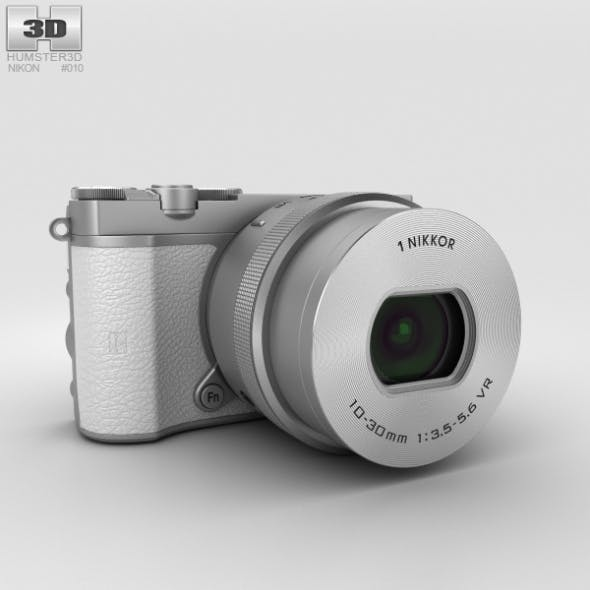 Nikon 1 J5 White - 3DOcean Item for Sale