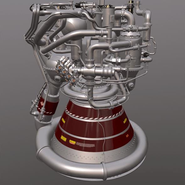 Rocket Engine EC02P - 3DOcean Item for Sale